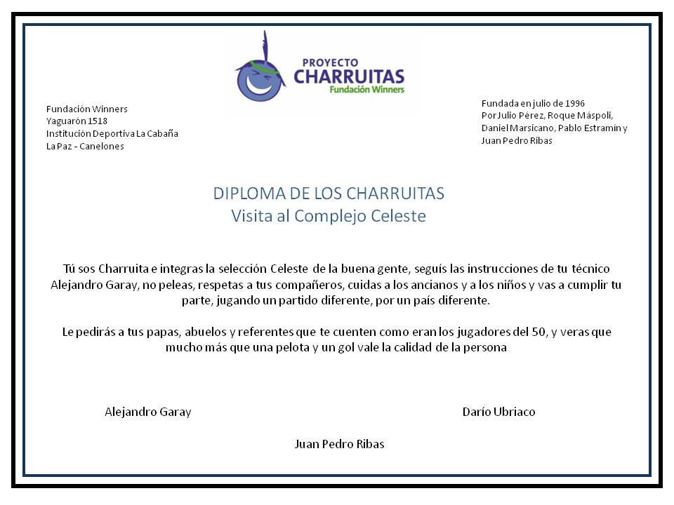 Diploma Charruita